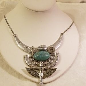 Ancient Egyptian hathor/isis charm necklace
